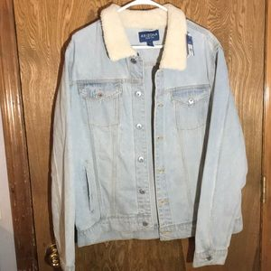 90's style Arizona Jean jacket XL faux Sherpa